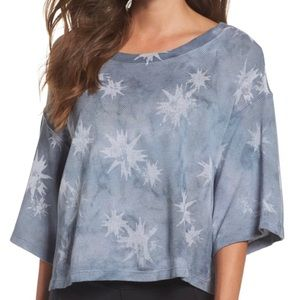 Free People Movement Blue White Allstar Crop Top